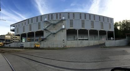 Nord-Ost Fassade des Industriegebäudes in Birmensdorf