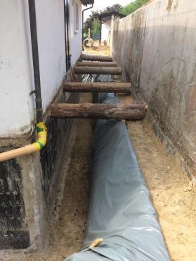 Baugrubensicherung mittels Sporen