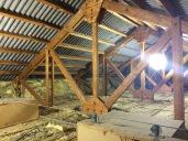 Verstärkung eines Holzfachwerkes (Verstärkung der Knotenpunkte)