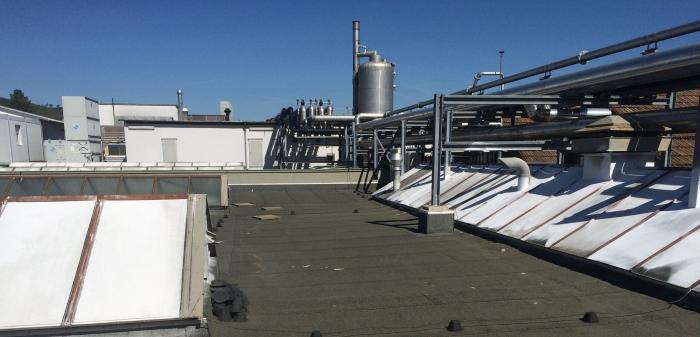 Dachfläche mit geplantem Standort